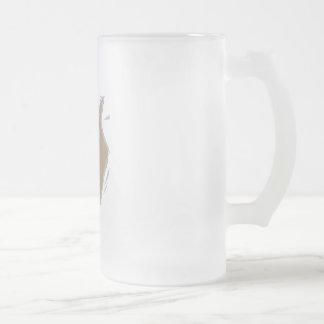 Dreidel Gimel Frosted Glass Beer Mug