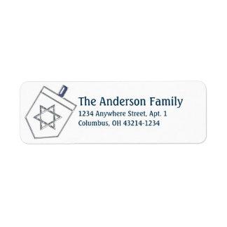 Dreidel Hanukkah Address Labels d9