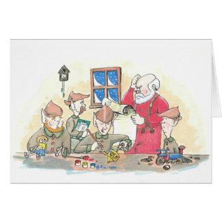 Dreidel in Santa's Workshp Card