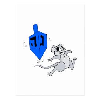 Dreidel Mouse Postcard