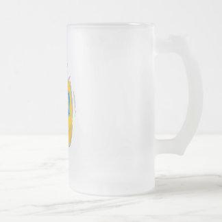Dreidel Shin Frosted Glass Beer Mug