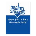 Dreidel Spinners Hanukkah Party Postcards