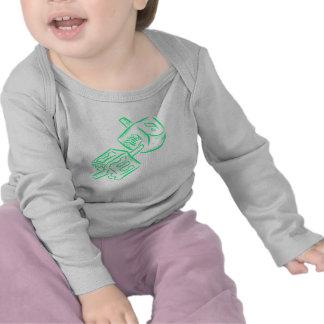 Dreidel verde camisetas