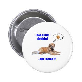 DreidelDog Pinback Button
