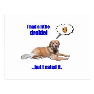 DreidelDog Postcard