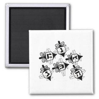 Dreidels 2 Inch Square Magnet