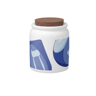 Dreidels Candy Jar