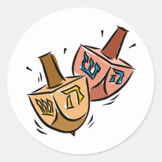 Dreidels Etiqueta Redonda