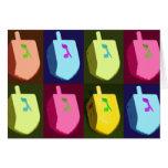 Dreidels Hanukkah Card