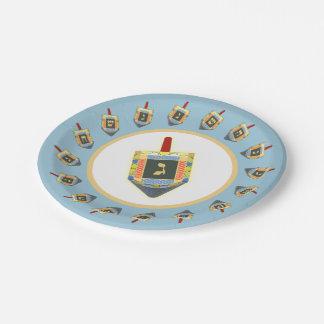 Dreidels Paper Plate 7 Inch Paper Plate