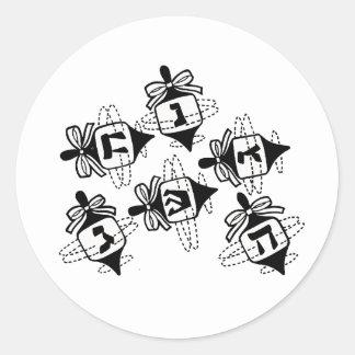 Dreidels Round Stickers