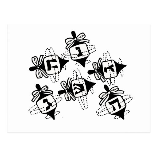 Dreidels Tarjetas Postales