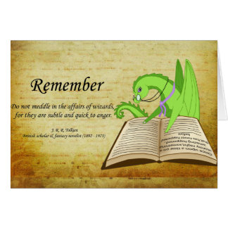 Drekans quotats - Remember Greeting Card