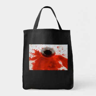 Dren sangriento bolsa tela para la compra