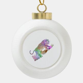 Drenaje artístico del leopardo colorido de la adorno de cerámica en forma de bola
