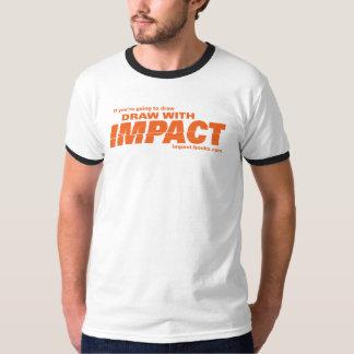 Drenaje con la camiseta-luz para hombre del playera