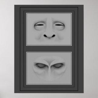 Drenaje de caras póster