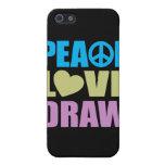 Drenaje del amor de la paz iPhone 5 cárcasa