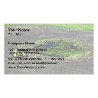 Drenaje del humedal tarjetas de visita