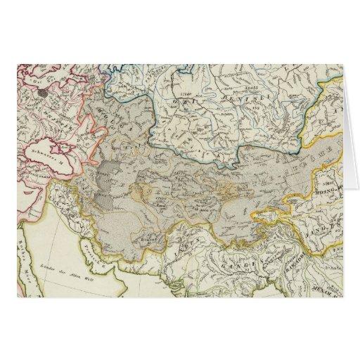Drenaje del río de Asia y de Europa Tarjetas