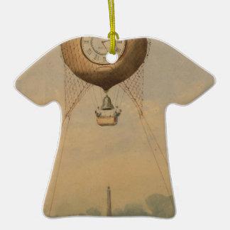 Drenaje fantástico del viaje Eiffel en la Adorno De Cerámica En Forma De Camiseta