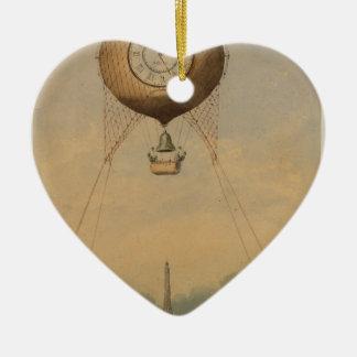 Drenaje fantástico del viaje Eiffel en la Adorno De Cerámica En Forma De Corazón