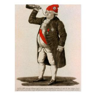 Drenaje original de Louis XVI de Francia Postal