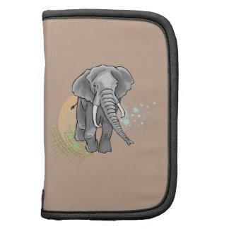 Drenaje que camina del elefante africano planificadores