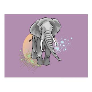 Drenaje que camina del elefante africano postal