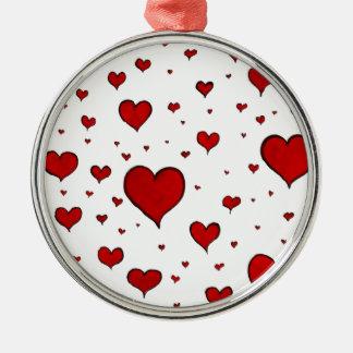 drenaje rojo de la tinta del símbolo del corazón d