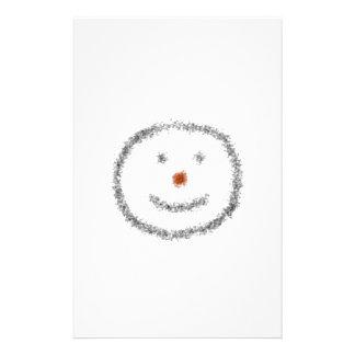 Drenaje sonriente de la cara personalized stationery