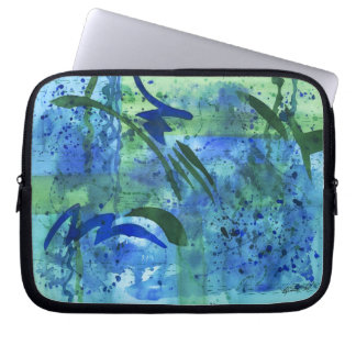 Drenched Abstract Watercolor Laptop Bag Laptop Sleeve