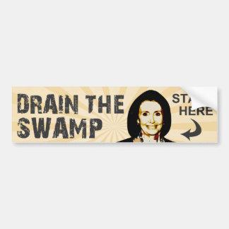 Drene el pantano etiqueta de parachoque