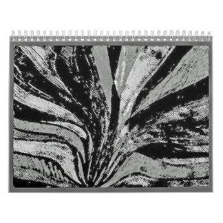 drene los dibujos blancos y negros del abstact de  calendario