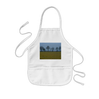 Drenthe - Yellow Grass with Trees Kids' Apron