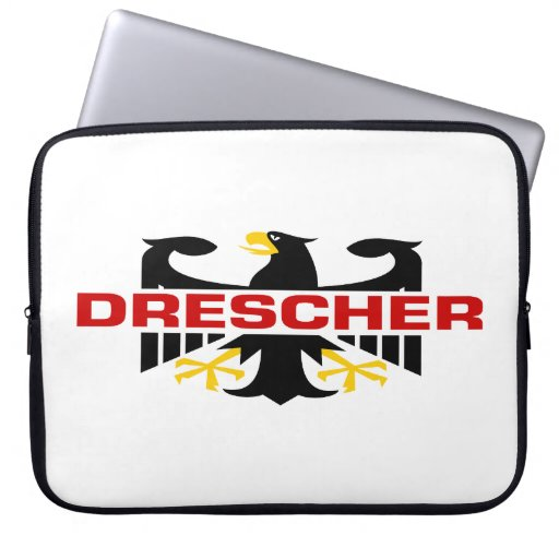 Drescher Surname Laptop Computer Sleeve