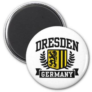 Dresden Alemania Imán Redondo 5 Cm