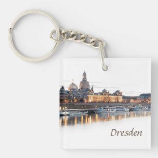 Dresden at night keychain