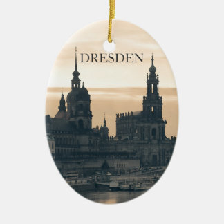 Dresden at Sunset Ceramic Ornament