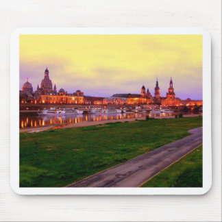 Dresden bei Nacht Mouse Pad