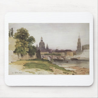 Dresden. Bridge of August by Ivan Shishkin Mouse Pad
