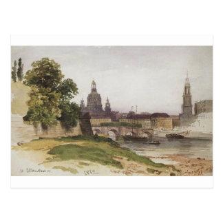 Dresden. Bridge of August by Ivan Shishkin Postcard