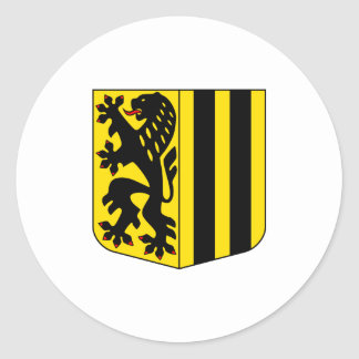 Dresden Coat Arms official Germany Saxony Symbol Classic Round Sticker