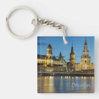 Dresden Elbe Night view Keychain