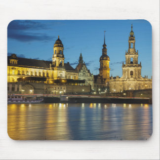 Dresden Elbe Night view Mouse Pad