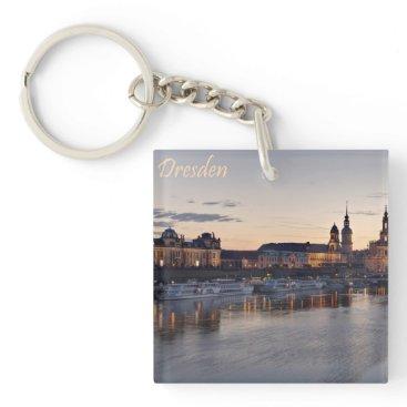 Beach Themed Dresden Elbe view Keychain