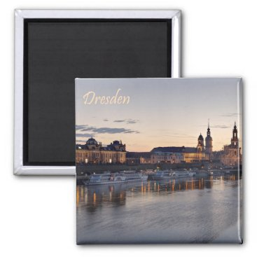 Beach Themed Dresden Elbe view Magnet