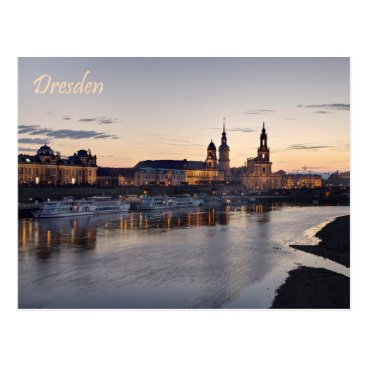 Beach Themed Dresden Elbe view Postcard