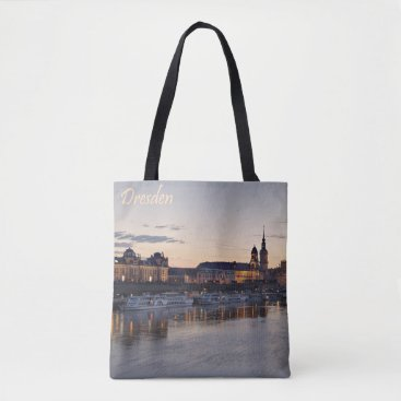 Beach Themed Dresden Elbe view Tote Bag