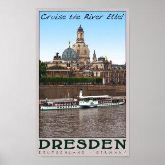 Dresden - en el Elba Póster